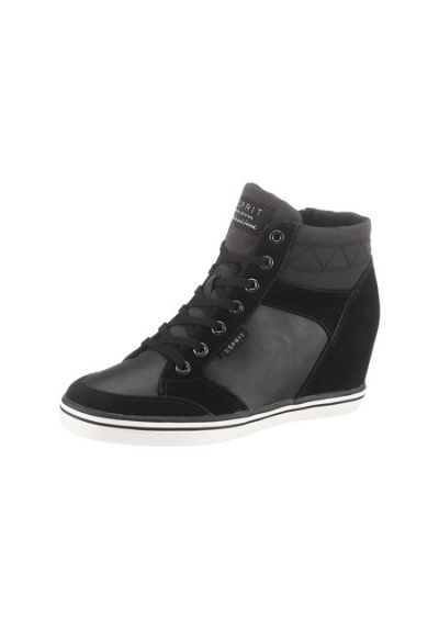 esprit tolle damen keilboots sneaker gr 41 schwarz stiefelette neu ebay. Black Bedroom Furniture Sets. Home Design Ideas
