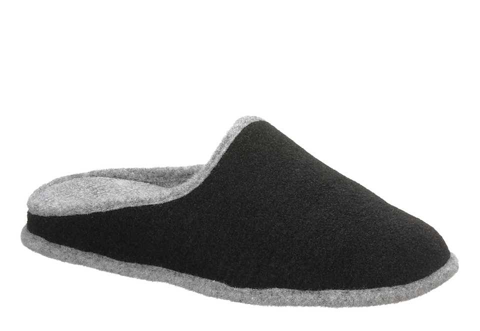 hush puppies tolle damen pantoffel gr 36 schwarz hausschuhe textil neu ebay. Black Bedroom Furniture Sets. Home Design Ideas